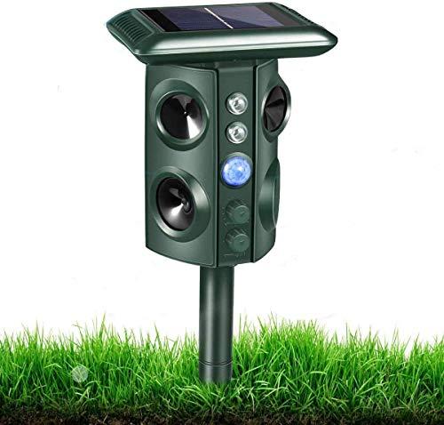 RIVENNA Animal Chaser, luz intermitente y carga USB, patio de jardín de granja al aire libre, eficaz para gatos, perros, zorros, pájaros, Skunks y más