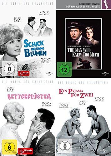 Doris Day Collection - Ein Pyjama für Zwei + Schick mir keine Blumen + Bettgeflüster + Der Mann der zuviel wusste [4er DVD-Set]
