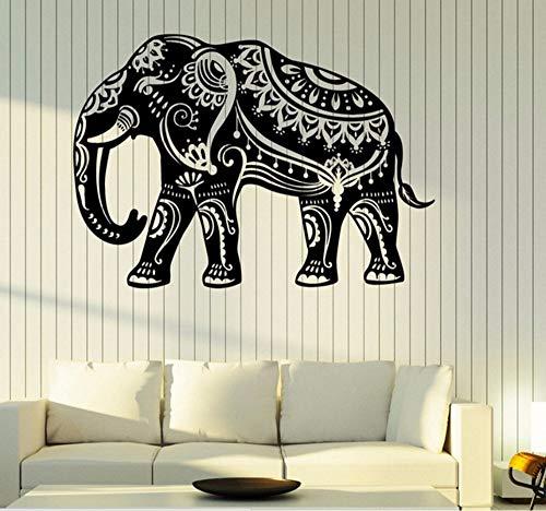 Hanjiming Indiase olifant muur Vinyl Decal patroon op de huid thuis interieur Decor muur Decal sterke lijm Vinyl behang