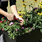 "Mixc raised garden bed, metal elevated outdoor planter box for backyard & patio,large planter for vegetable flower herb… 13 【sturdy design garden box 】compared to other products, square iron table legs are designed instead of the l-shaped table legs in the mixc raised garden bed, which can provide more sufficient support and not easy to break down. The flower box weight capacity up to 185 lbs, bottom partition can support 90 lbs. 【fits perfectly into garden】35. 8""*15. 9""*31"" overall, planting box: 8. 3"" deep, holds about 2. 1 cubic feet soil, provide ample growing space to raise vegetables, herb, flower and plant. It can place outdoor for long time use. 【garden bed everywhere 】this raised garden bed has two smooth wheels on one side and a handle on the other, making it easy to move the herb planter wherever you like. Fixed hooks on the side allow you to hang ready-to-use garden tools."