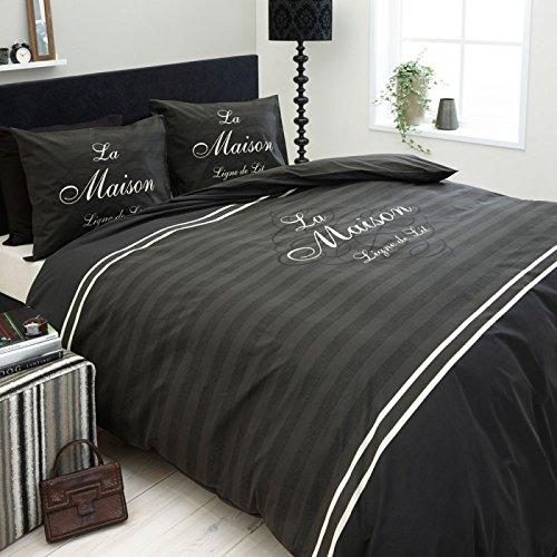 Dreamhouse Bedding La Maison anthrazit Bettwäsche, 2-teilig, 60 x 70 cm, 140 x 200/220 cm
