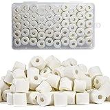 A/M QIQN Perle Ceramique Efficaces Naturelle Perles de Céramique Filtration Eau pour Tous Les Types d'aquariums et Bassins Stabiliser Le pH de l'eau (Blanc 320g)