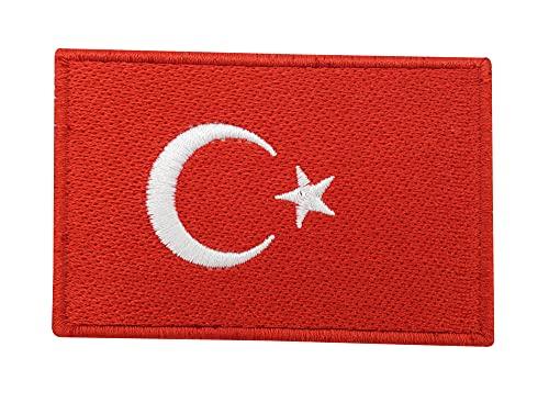 Türkei Flagge Patch mit Klett Rückseite | Türkische Fahne Klettpatches, Turkey Flag Patches, Türkiye Klettpatch Finally Home