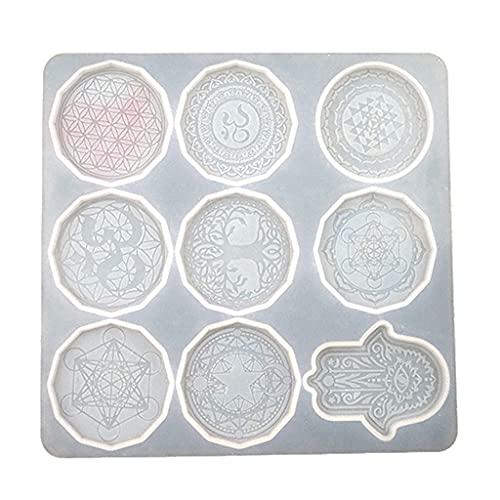 Changzhou Flor de la Vida Colgante Cristal Epoxi Resina Molde Joyería Collar Pendientes Molde de Silicona DIY Artesanías Casting Herramientas