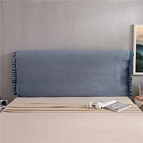 WHBDJ Funda de cama Quied para mesita de noche, con clip de algodón simple, elástico, extraíble, lavable, a prueba de polvo, cubierta de cabeza de cama, azul zafiro, B, 120 x 65 x 30 cm