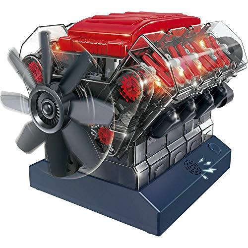 Big Game Toys~STEMNEX V8 Combustion OHC Engine Motor Working Visible Clear Sound Model Kit