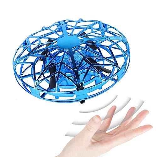 SeeKool Mini Drone UFO para Niños, 360° Gira detección automática de obstáculos con Luz LED ,Juguete Volador Interactivo de Inducción Infrarrojo Recargable,Juegos de Interior y Exterior para Niños
