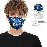 Cover facciale lavabile riutilizzabile stampata 3D a 5 strati per visiera per donna uomo bambino