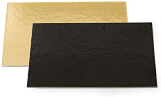 Decora 0932591 Plat GÂTEAU Or 30X40 CM, Paper, doré/Noir, 30 x 40 x 30 cm