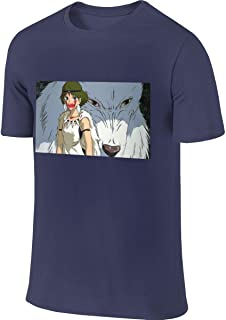 Customized Men Tees Top Hayao Miyazaki Princess Mononoke Top T-Shirts
