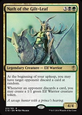Magic The Gathering - Nath of The Gilt-Leaf (213/351) - Commander 2016
