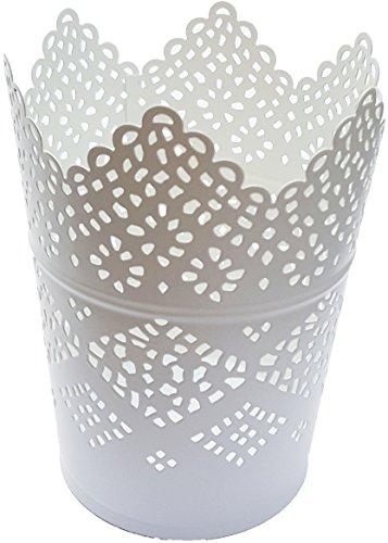IKEA SKURAR - Kerzenhalter, weiß - 11 cm