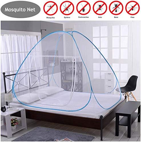Hyishion Opvouwbaar muggennet Easy Bed pop-up tent installatie netdeur voor kinderen volwassenen enkele deuren / dubbele deuren