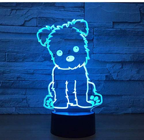 Puppy Gift Night Light Kids Room Kids Lights Lamps Christmas Decorations Gift for Baby Room USB 3D Led Lamp