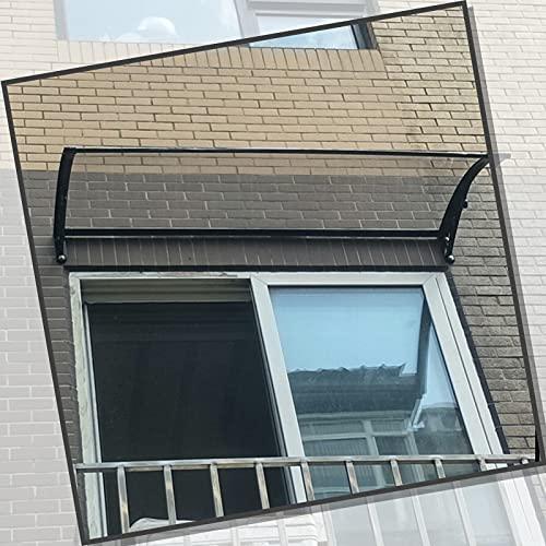 XUEXUE Marquesina Puertas Exterior, Cubierta De Patio Marquesina con Aleros para Techos Lluvia De Nieve VU Proteccion, con Aleación De Aluminio Soporte, Extensible (Size : 60x60cm)