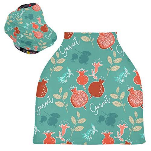 Sinestour Fundas para asiento de coche de bebé granate, cubierta para carrito de la compra, toldo multiusos para el asiento de coche, para mamás y bebés