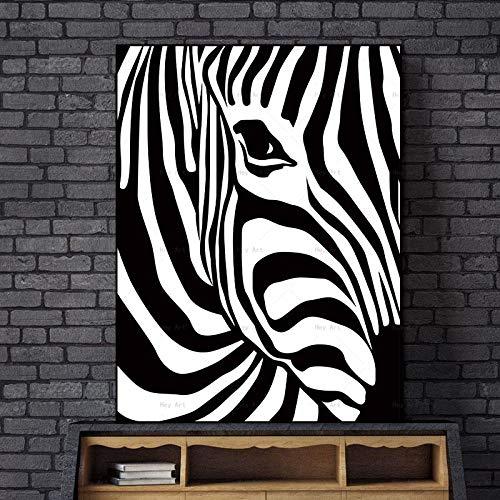 NIMCG Ilustraciones para Sala de Estar Pinturas de Animales Cuadros de Pared Carteles e Impresiones Zebra Canvas Art Poster (Sin Marco) R1 20x30CM