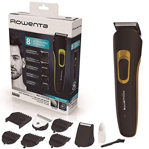 Rowenta TN8940F0 Profi-Haar- und Bartschneider Multistyler 8 in 1 Basic, mit 60 Minuten Laufzeit, 8 Schneideinsätze und einfacher Reinigung