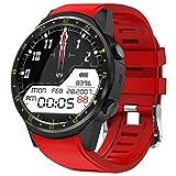 HFJ&YIE&H Männer Sport Smartwatch mit GPS Kamera Stoppuhr unterstützen Bluetooth Smartwatch SIM Karte Armbanduhr für Android IOS-Telefon,A