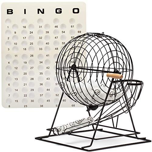 Professional Extra Large Bingo Cage, Ping Pong Bingo Balls and Master Bingo Board