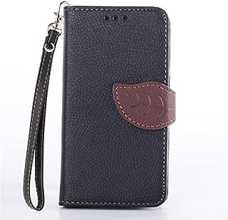 XYX Moto G Case,Moto G (1st Gen) Case [Black Leaf Buckle][Card Slot][Wrist Strap] Premium Protective Case for Motorola Moto G (1st Gen) XT1032,Black