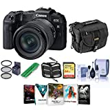 Canon EOS RP 26.2MP Full-Frame Mirrorless Digital Camera with RF 24-105mm F4-7.1 is STM Lens - Bundle with Camera Case, 64GB SDXC Card, Camera Case, 67mm Filter Kit, Cleaning Kit, PC Software, More