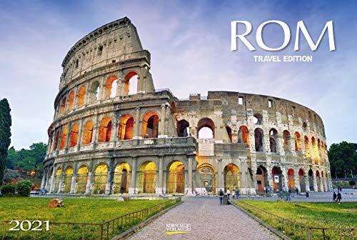 Rom 2021: Großer Foto-Wandkalender mit Bildern aus der ewigen Stadt. Travel Edition mit Jahres-Wandplaner. PhotoArt Panorama Querformat: 58x39 cm.