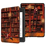 Fintie Slimshell Case for All-New Kindle Paperwhite (10th Generation, 2018 Release) - Premium Lightweight PU Leather Cover with Auto Sleep/Wake for Amazon Kindle Paperwhite E-Reader, Library