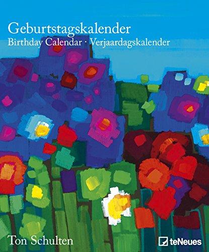 Ton Schulten Flowers Birthday Calendar - Geburstatgskalender, Kunstkalender, immerwährender Kalender  -  22 x 26,5cm