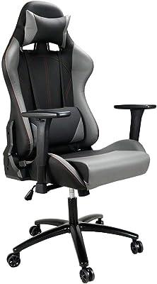 ゲーミングチェア オフィスチェア 135度リクライニング ハイバック ヘッドレスト クッション付き デスクチェア 多機能 3Dランバーサポート ゲーム用チェア 腰痛対策 3D昇降アームレスト PUレザー ゲーム椅子 パソコンチェア SY-7019