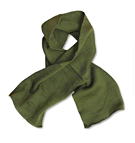 Government Issue Military GI Wool Scarfs Olive Drab, 55' length