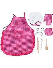 DIY Cooker Set,Children Chef Set DIY Cooking Baking Suit Toys Set Pretend Play Clothes Apron Gloves Hat Cooker DIY Baking Toys