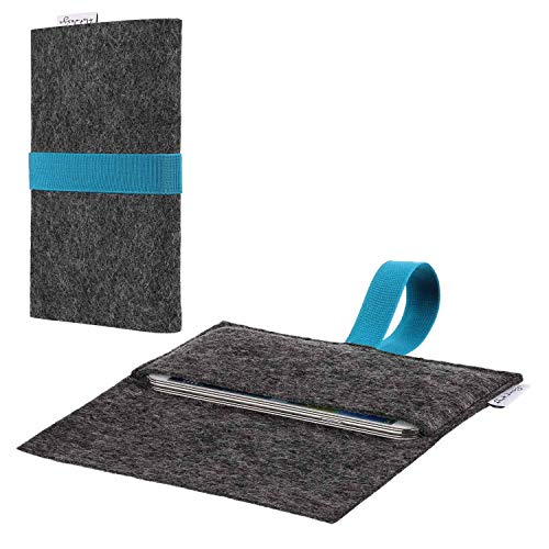 flat.design Handy Hülle Aveiro kompatibel mit Nokia 800 Tough passexakte Filz Tasche Hülle Sleeve Made in Germany