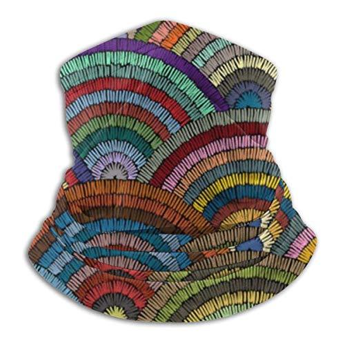 Tour de Cou Cagoule Microfibre Chapeaux Tube Masque Visage, Fleece Neck Gaiter Wavys Bohemian Outdoor Knit Headwear Wool Snow Ski Caps,for Unisex