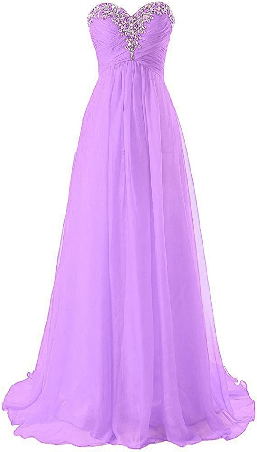 Anna's Bridal Women's Beaded Long Bridesmaid Dresses Evening Gowns