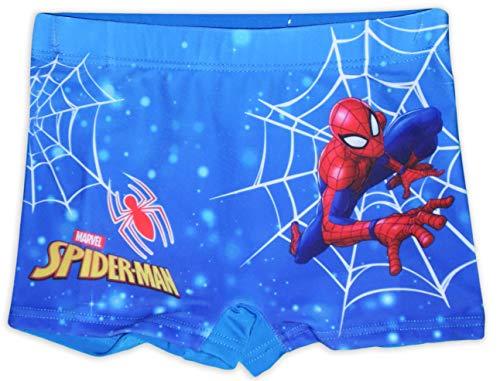 Marvel Spiderman - Bañador para niño Azul (Web) 8-9 Años