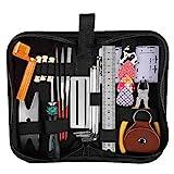 yanshon kit attrezzi per riparazione e pulizia per chitarra 26pz strumenti di manutenzione e pulizia per chitarra, accessori chitarra acustica per chitarra ukulele bass mandolin + borsa con cerniera