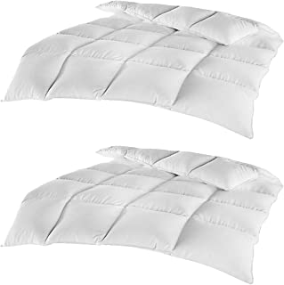 2er Pack Federn Daunen Kassettenbett Comfort 135 x 200 cm - Bettdecke mit 85% Federn 15% Daunen