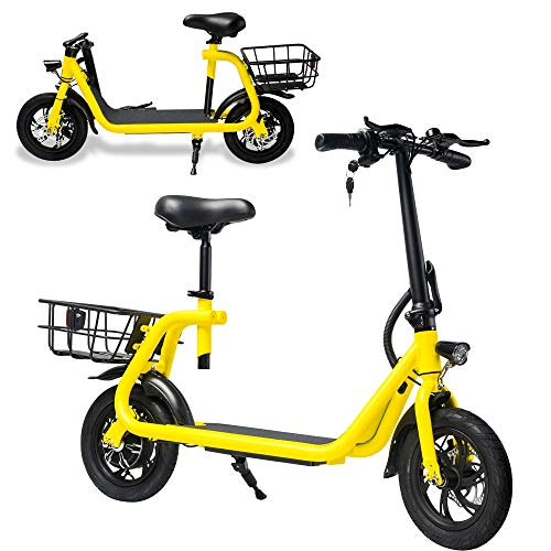 Kids amp Adult Electric Bike eBike Commuting Scooter Portable Foldable Compact with Electric Motor and Rechargeable Battery