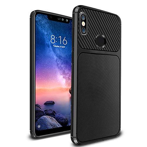 Ferilinso Hülle für Xiaomi Redmi Note 6 Pro, Flexible stoßfeste Schutzhülle für Xiaomi Redmi Note 6 Pro (Schwarz)