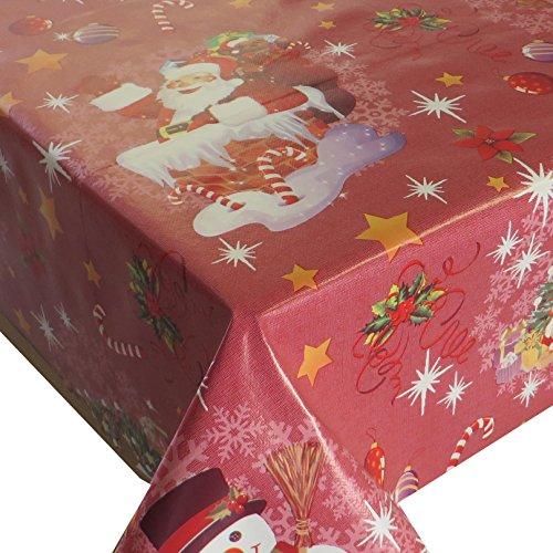 Wachstuch Wachstischdecke Tischdecke Gartentischdecke Weihnachten Zuckerstange Rot Breite & Länge wählbar 80 x 80 cm Eckig abwaschbar