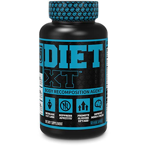 Price comparison product image Diet XT Weight Loss Supplement - Caffeine Free Body Recomposition Agent,  Fat Burner & Muscle Builder - Glucose Control & Mood Support w / KSM-66,  Berberine,  Chromax & More - 60 Keto Diet Pills