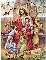 ジグソーパズル6000ピース木製ジグソーパズルイエス・キリストのキリスト降誕宗教大きな木製パズルユニークな家の装飾と贈り物