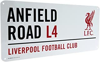 Liverpool Official Anfield Road L4 Metal Street Sign – Multi-Colour