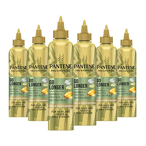 Pantene Pro-V Miracles Go Longer Protein Reconstruct Leave-in Haarpflegecreme Mit Bambus, 6er Pack (6 x 270ml), Leave In Conditioner, Haarausfall Frau, Beauty, Haare Kur, Haar Pflege Kur, Haarpflege
