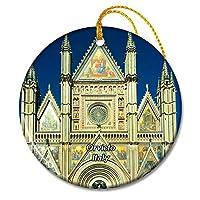 イタリアオルビエート教会クリスマスオーナメントセラミックシート旅行お土産ギフト