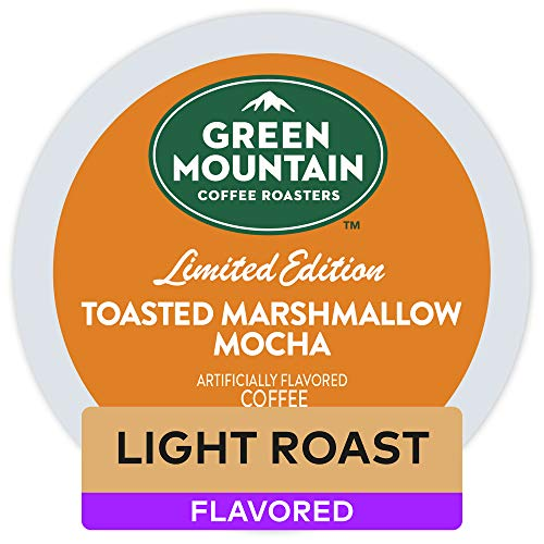 Green Mountain Coffee Roasters Toasted Marshmallow Mocha, Single-Serve Keurig K-Cup Pods, Flavored Light Roast Coffee, 72 Count