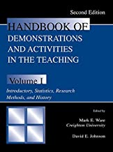 Handbook of Demonstrations and Activities in the Teaching of Psychology: Volume I: Introductory, Statistics, Research Methods, and History (Handbook of ... & Activities in Teaching of Psych 1)