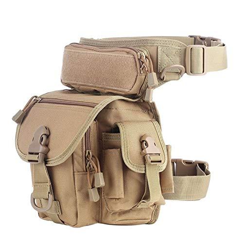 Bolsa de cinturón de la cintura Pierna táctica Bolsa - Molle pierna de la gota bolso militar 1000D nylon impermeable de los hombres táctica Viajes paquete de la cintura de la pierna de la correa del b