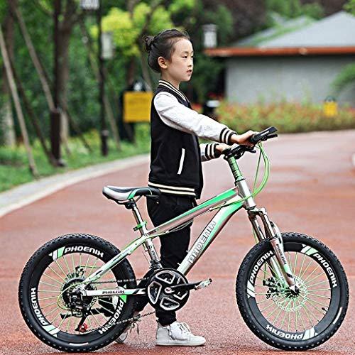 Xiaoyue Fahrräder im Freien Fahrrad von Ildren 20 Zoll Kinder Mountainbike Geeignet for 6-15 Jahre Alter Junge und Mädchen (Farbe: Gelb, Größe: 20inch) lalay (Color : Green, Size : 20inch)